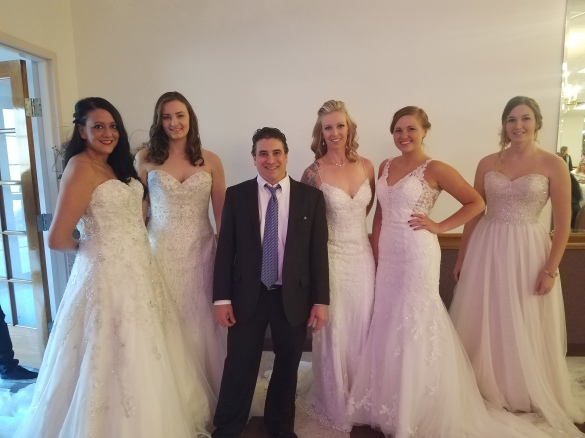 dj Danny as emcee of the 2017 Rosewood Place Bridal Show